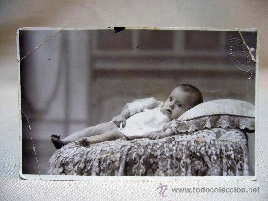 FOTO, TARJETA POSTAL, RETRATO DE BEBE, FOTO VENDRELL (Postales - Postales Temáticas - Niños)