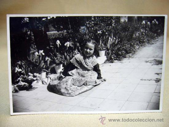 FOTO, TARJETA POSTAL, RETRATO DE FALLERA, FOTO ESCUDER (Postales - Postales Temáticas - Niños)