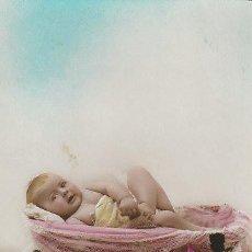 Postales: BEBÉ, ES UNA POSTAL PARA ANUNCIAR EL NACIMIENTO DE UN NIÑO DEL AÑO 1923. Lote 29230858