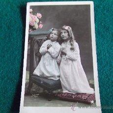 Postales: POSTAL- ANTIGUA-NIÑAS-ESCRITA-1908. Lote 29329505