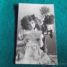 Postales: POSTAL- ANTIGUA-NIÑAS-ESCRITA 1908. Lote 29329540