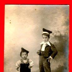 Postales: NIÑOS CATALANES - POSTAL DE MARINE PELAYO 58 BARCELONA - TIPOS CATALANES - POSTAL ANTIGUA. Lote 29381096