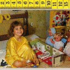 Postales: TARJETA POSTAL DE NIÑA CASITA DE MUÑECAS HOGARIN PINBALL LAS VEGAS MUÑECA INFANTIL JUGUETE JUEGO. Lote 32941496