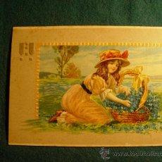 Postales: POSTAL INFANTIL ANTIGUA - TROQUELADA - ESCRITA EN 1909 - SELLO - . Lote 31728488
