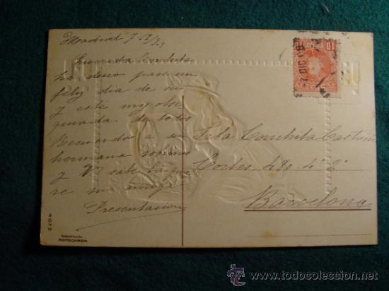 Postales: POSTAL INFANTIL ANTIGUA - TROQUELADA - ESCRITA EN 1909 - SELLO - - Foto 2 - 31728488