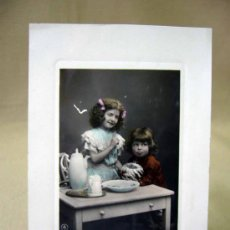 Postales: TARJETA POSTAL, FOTO POSTAL, NIÑOS, 1909. Lote 31966450