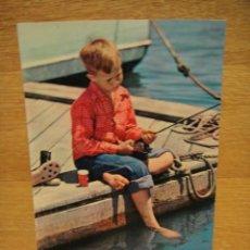Postales: PESCADOR POSTAL ESCRITA EN 1964 EDICION ITALIANA. Lote 32239349