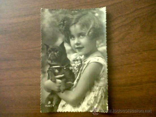 POSTAL TROQUELADA NIÑA 1132/5-ESCRITA 1946 (Postales - Postales Temáticas - Niños)