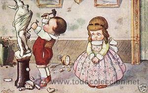 17 POSTALES / POST CARD. A. BERTIGLIA. INFANTIL/CHILDREN'S. ITALIA. 1919.NO CIRCULADA / NON POSTED (Postales - Postales Temáticas - Niños)