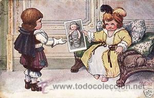Postales: 17 POSTALES / POST CARD. A. BERTIGLIA. INFANTIL/CHILDREN'S. ITALIA. 1919.NO CIRCULADA / NON POSTED - Foto 4 - 32936205