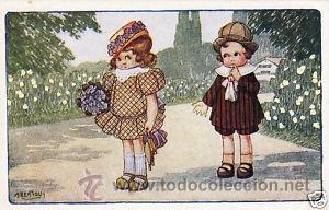 Postales: 17 POSTALES / POST CARD. A. BERTIGLIA. INFANTIL/CHILDREN'S. ITALIA. 1919.NO CIRCULADA / NON POSTED - Foto 7 - 32936205