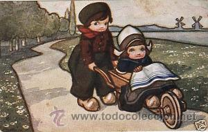 Postales: 17 POSTALES / POST CARD. A. BERTIGLIA. INFANTIL/CHILDREN'S. ITALIA. 1919.NO CIRCULADA / NON POSTED - Foto 10 - 32936205