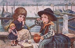 Postales: 17 POSTALES / POST CARD. A. BERTIGLIA. INFANTIL/CHILDREN'S. ITALIA. 1919.NO CIRCULADA / NON POSTED - Foto 16 - 32936205