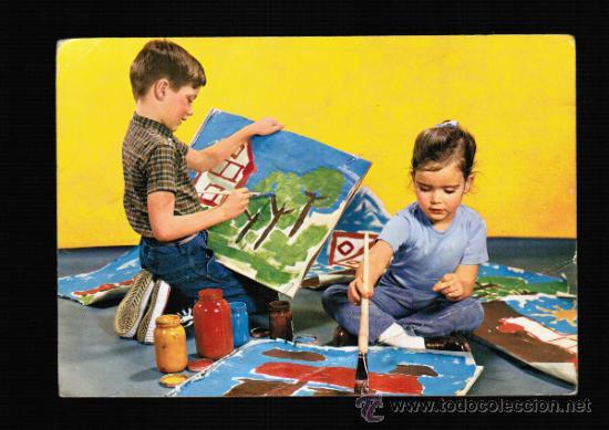 postal de niños pintando - cyz 6802 - Comprar Postales antiguas de ...