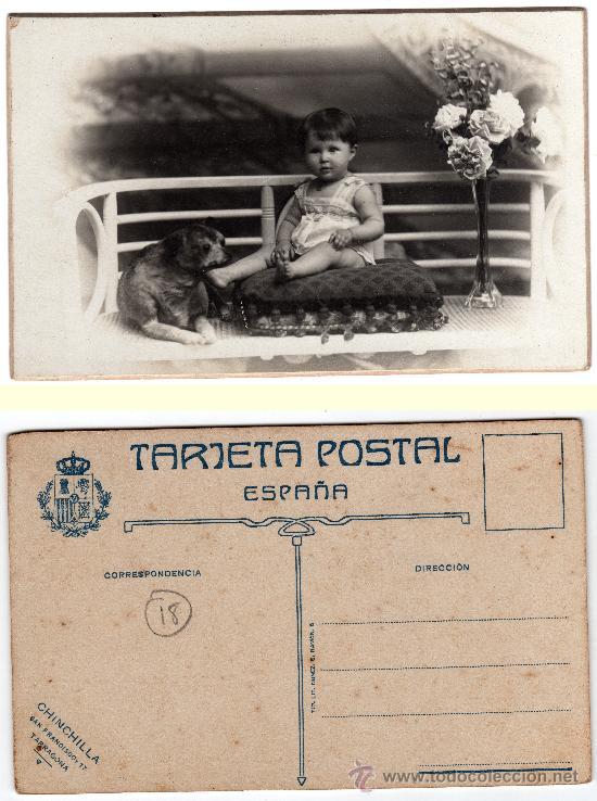 TARJETA POSTAL CARTÓN DURO, CHINCHILLA, SAN FRANCISCO 17, TARRAGONA (Postales - Postales Temáticas - Niños)