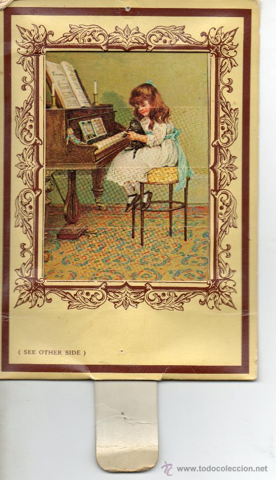 POSTAL DE DOS DIBUJOS .NIÑOS JUGANDO Y NIÑA TOCANDO EL PIANO (Postales - Postales Temáticas - Niños)