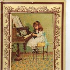 Postales: POSTAL DE DOS DIBUJOS .NIÑOS JUGANDO Y NIÑA TOCANDO EL PIANO. Lote 33248665