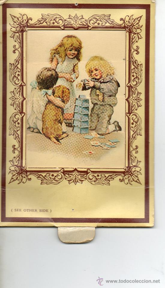 Postales: POSTAL DE DOS DIBUJOS .NIÑOS JUGANDO Y NIÑA TOCANDO EL PIANO - Foto 2 - 33248665