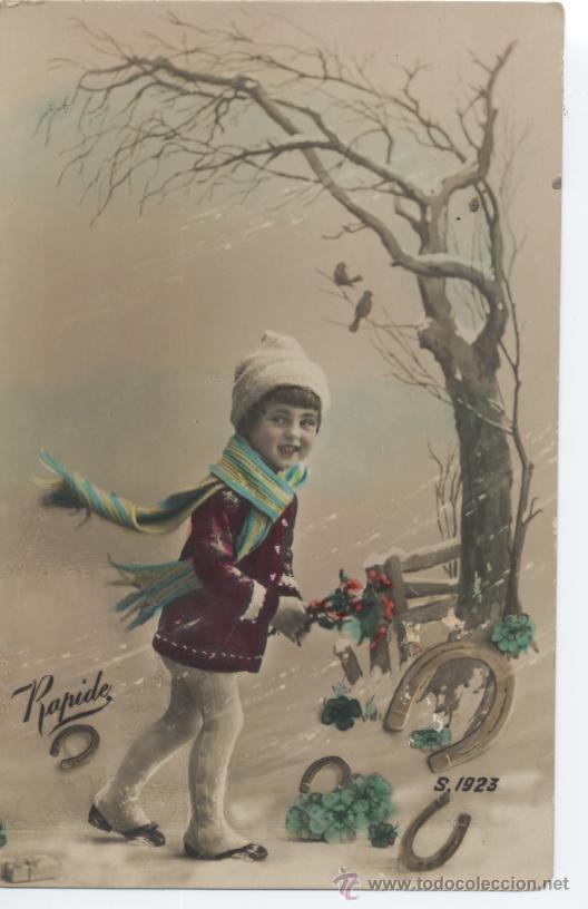POSTAL NAVIDEÑA. ED. RAPIDE. S. 1923. SIN CIRCULAR. (Postales - Postales Temáticas - Niños)