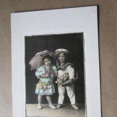 Postales: HERMOSOS NIÑOS. BEAUTIFUL BABIES CHILDREN. BEAUX ENFANTS BÉBÉS 1912 - URUGUAY. Lote 33545443