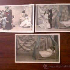 Postales: LOTE DE 3 POSTALES NIÑOS- MARQUE ÉTOILE SERIE 738 Nº VIII,IX ,X-ESCRITAS 1906. Lote 33566021