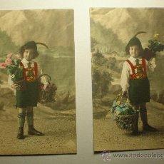 Postales: 2 POSTALES FOTOGRAFICAS TOTALMENTE ORIGINALES DE PRINCIPIOS DE 1900. Lote 34048345