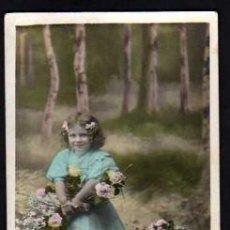 Cartes Postales: POSTAL FOTOGRÁFICA COLOREADA, NIÑA.CIRCULADA 1907.. Lote 34140612