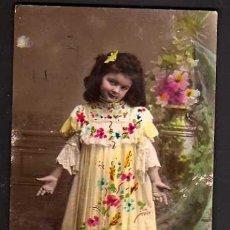 Cartes Postales: POSTAL FOTOGRÁFICA COLOREADA. NIÑA. CIRCULADA. Lote 34479694