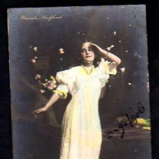 Cartes Postales: POSTAL FOTOGRÁFICA COLOREADA. WANDA RADFORD. CIRCULADA 1906. ESTADO VER FOTO.. Lote 34812858