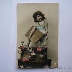 Postales: POSTAL ANTIGUA,TIENE PURPURINA,ESCRITA,AÑO 1907. Lote 34997970