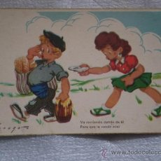 Postales: ANTIGUA POSTAL INFANTIL AÑOS 50. Lote 35354101