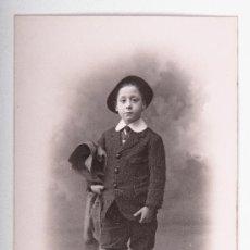 Postales: POSTAL DE NIÑO, FECHA ESCRITA 13 FEBRERO 1911, FOTOGRAFIA A BLANCO Y NEGRO. Lote 35675232