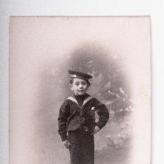 Postales: POSTAL DE NIÑO AÑO 1911, FOTOGRAFO MARINE, FOTOGRAFIA EN BLANCO Y NEGRO. Lote 35675465