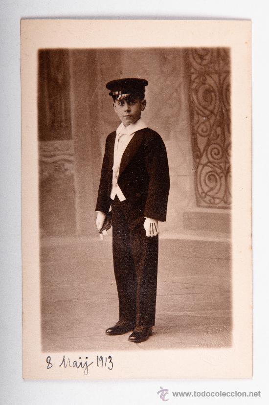 POSTAL DE NIÑO AÑO 1911, FOTOGRAFO MARINE, FOTOGRAFIA EN BLANCO Y NEGRO (Postales - Postales Temáticas - Niños)