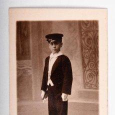 Postales: POSTAL DE NIÑO AÑO 1911, FOTOGRAFO MARINE, FOTOGRAFIA EN BLANCO Y NEGRO. Lote 35675538