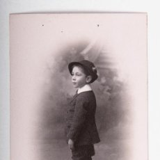 Postales: POSTAL NIÑO AÑO 1911, FOTOGRAFO MARINE, FOTOGRAFIA EN BLANCO Y NEGRO. Lote 35675562