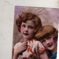 Postales: POSTAL ANTIGUA AÑO 1938 NIÑOS COLOREADA P-C PARIS ESCRITA SIN CIRCULAR . Lote 35790255