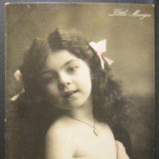 Postales: LITTLE MARGA. CG SER 346/1. CON APLICACIÓN DE COLOR MANUAL. CIRCULADA 1907. Lote 35877375