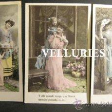 Postales: TRES POSTALES STEBBING. L'ETOILE. PARIS. DAMAS CON NIÑOS. CIRCULADAS 1907. Lote 35877422