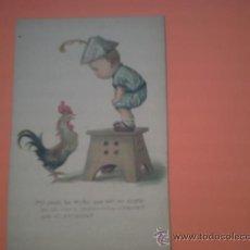 Postales: POSTAL DE NIÑO CON GALLO - POST CARD - PRINTED IN USA - Nº 17 - . Lote 35892319