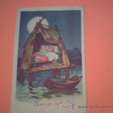 Postales: POSTAL DE NIÑOS EN CABAÑA SOBRE PALAFITOS - CIRCULADA REUS 30 AGOST. 1924 -. Lote 35893078