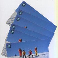 Postales: LOTE 6 POSTALES *NIÑOS ESQUIANDO* - ESCUDO DE ORO, AÑOS 70. Lote 36465522