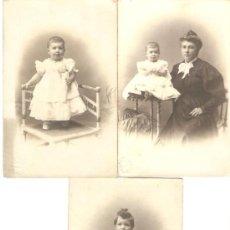 Postales: LOTE DE 3 POSTALES FOTOGRÁFICAS - SELLO MARINE CARMEN BARCELONA - NIÑAS. Lote 37502339