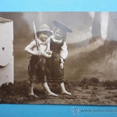 Postales: NIÑOS TIROLESES CON ESCOPETA.. Lote 38296551