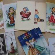 Postales: LOTE DE 14 POSTALES ANTIGUAS INFANTILES. NIÑAS.. Lote 38997583