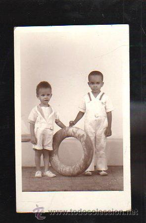 TARJETA POSTAL DE NIÑOS - RETRATO DE NIÑOS VESTIDOS DE MARINERO. NUÑEZ ESTUDIO, HABANA (Postales - Postales Temáticas - Niños)