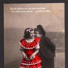 Cartes Postales: ANTIGUA POSTAL PAREJA DE NIÑOS. CIRCULADA 1908. Lote 39085448