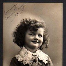 Postales: ANTIGUA POSTAL FOTOGRÁFICA NIÑA. CIRCULADA 1909. Lote 39638886