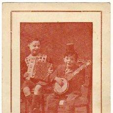 Postales: ANTIGUA POSTAL PUBLICITARIA DÚO TIM Y TOM. NIÑOS MÚSICOS. SIN CIRCULAR. AÑOS 1910S. Lote 39836421