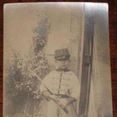 Postales: ANTIGUA FOTO POSTAL DE NIÑO VESTIDO DE MILITAR - SIN CIRCULAR. Lote 38257020